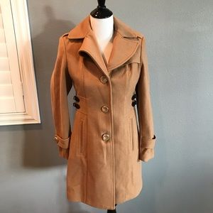 EUC⭐️Kenneth Cole Tan Camel winter jacket 4P coat
